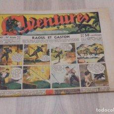 Cómics: ANTIGUO TEBEO - COMIC EN FRANCÉS - AVENTURES RAOUL ET GASCON AÑO IV Nº 43 - 28 X 38 CM, OCTUBRE 1939. Lote 196640220