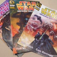 Cómics: STAR WARS. CÓMIC IMPERIO OSCURO II. NUMEROS 1,2,3. Lote 197176122