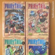 Cómics: FAIRY TAIL NUMS.1-2-3-4 HIRO MASHIMA. Lote 197643617