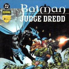 Cómics: BATMAN & JUEZ DREDD. SERIE COMPLETA: 2 TOMOS. NORMA EDITORIAL. Lote 197659240
