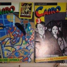 Cómics: LOTE NUMERO 2 Y 3 CAIRO. ACCIÓN CATÓDICA, EL HOMBRE QUE DEJA K.O. AL MISTERIO. BUEN ESTADO. . Lote 198176083
