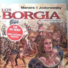 Cómics: LOS BORGIA - TODO ES VANIDAD. Lote 203391881
