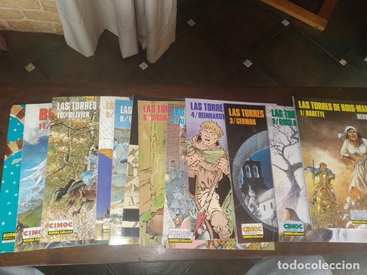 LAS TORRES DE BOIS-MAURY. HERMANN. NORMA EDITORIAL. 12 PRIMEROS NÚMEROS. IMPECABLE REF. UR (Tebeos y Comics - Norma - Otros)
