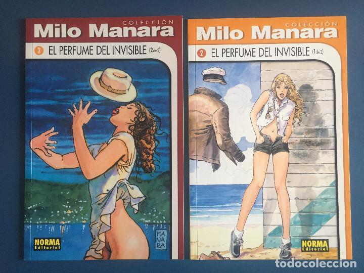 COLECCIÓN MILO MANARA - 2 Y 3 EL PERFUME DEL INVISIBLE - (1 DE 2) Y (2 DE 2) (Tebeos y Comics - Norma - Comic Europeo)