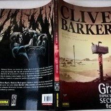 Cómics: COMIC CLIVE BARKER EL GRAN ESPECTACULO SECRETO VOLUMEN 1 Nº 59 COLECCION MADE IN HELL. Lote 204227300