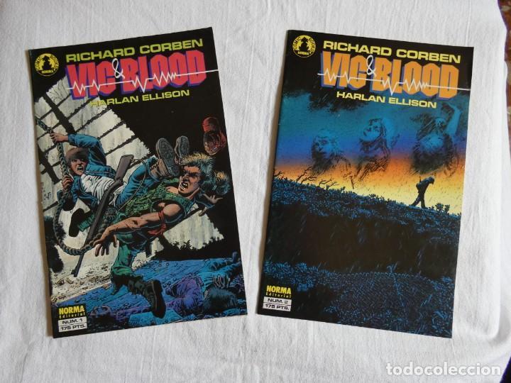 RICHARD CORBEN - VIC & BLOOD - COMPLETA (2 NÚMEROS) (Tebeos y Comics - Norma - Otros)