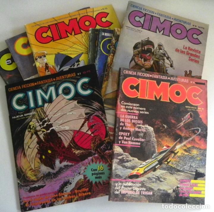 LOTE DE 9 CIMOC CÓMIC PARA ADULTOS - 7 14 16 46 50 66 75 109 119 - CIENCIA FICCIÓN AVENTURA FANTASÍA (Tebeos y Comics - Norma - Cimoc)