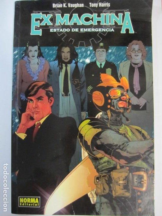 COMIC EX MACHINA ESTADO DE EMERGENCIA NORMA EDITORIAL BRIAN K. VAUGHAN TONY HARRIS (Tebeos y Comics - Norma - Comic USA)