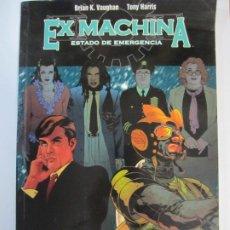 Cómics: COMIC EX MACHINA ESTADO DE EMERGENCIA NORMA EDITORIAL BRIAN K. VAUGHAN TONY HARRIS. Lote 207128275