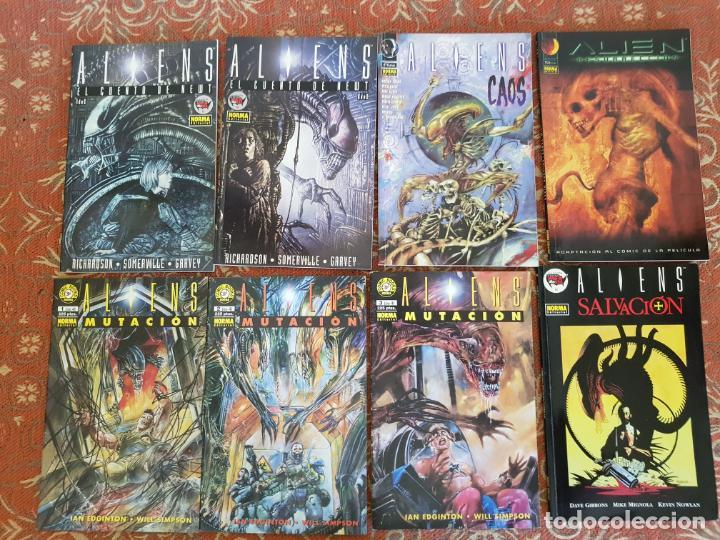 8 COMICS ALIENS,NORMA,SALVACION,MUTACION,CAOS,RESURECCION,NEWT.VER DETALLES (Tebeos y Comics - Norma - Otros)