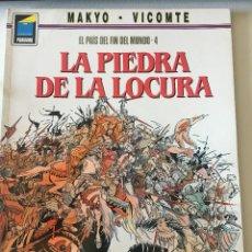 Cómics: LA PIEDRA DE LA LOCURA - EL PAÍS DEL FIN DEL MUNDO 4 - CÓMIC PANDORA NORMA EDITORIAL - MAKYO VICOMTE. Lote 210470388