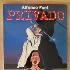 Cómics: PRIVADO - ALFONSO FONT - NORMA EDITORIAL. Lote 210576852