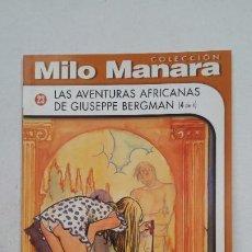 Cómics: MILLO MANARA Nº 23. LAS LAS AVENTURAS AFRICANAS DE GIUSEPPE BERGMAN. 4 DE 4. NORMA. TDKC68. Lote 210776986