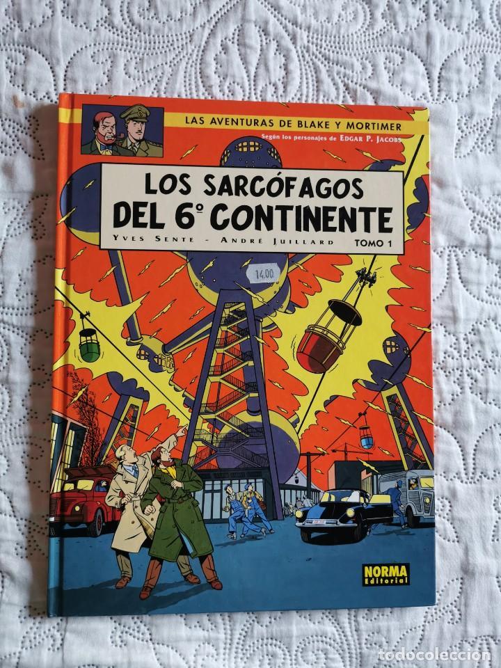 LAS AVENTURAS DE BLAKE Y MORTIMER - LOS SARCOFAGOS DEL 6 CONTINENTE - TOMO -1 N. 16 (Tebeos y Comics - Norma - Comic Europeo)