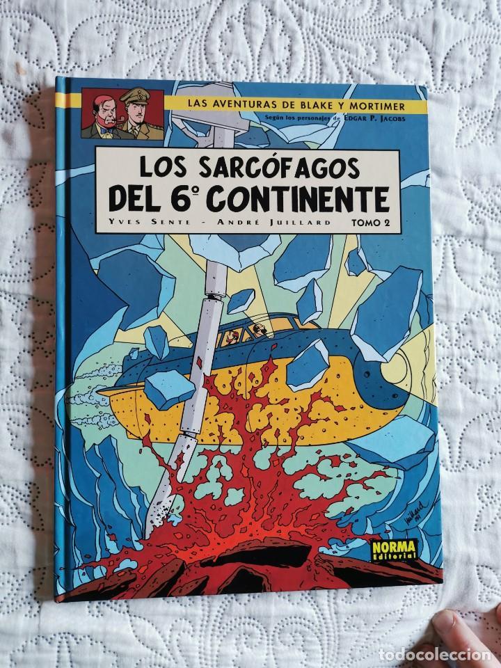LAS AVENTURAS DE BLAKE Y MORTIMER - LOS SARCOFAGOS DEL 6 CONTINENTE - TOMO -2 N. 17 (Tebeos y Comics - Norma - Comic Europeo)