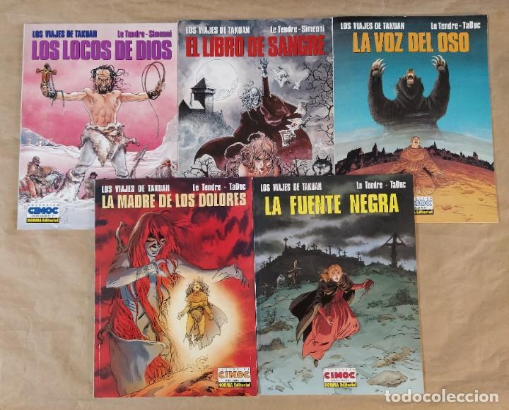 LOS VIAJES DE TAKUAN - NORMA EDITORIAL / SERIE COMPLETA DE 5 NÚMEROS (CIMOC EXTRA COLOR) (Tebeos y Comics - Norma - Cimoc)