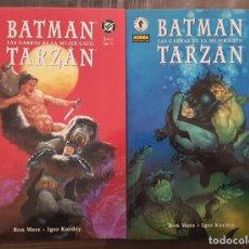 Cómics: BATMAN / TARZAN. LAS GARRAS DE LA MUJER GATO. SL DE 2 TOMOS. NORMA 2000. Lote 213809887