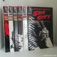 Cómics: SIN CITY - MORIRIA POR ELLA - NORMA EDITORIAL 1994 (FRANK MILLER) - COMPLETA 6 NÚMEROS. Lote 213989053