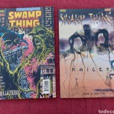 Cómics: SWAMP THING -RAÍCES-TIERRA A LA TIERRA- VERTIGO-NORMA EDITORIAL-LA COSA DEL PANTANO-EL HOMBRE COSA. Lote 214209636