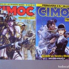 Cómics: LOTE CIMOC PRIMAVERA 1 Y 2 (6 NÚMEROS DE CIMOC RETAPADOS, DEL NÚM. 33 AL 38). Lote 214210781