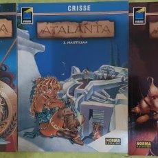 Cómics: ATALANTA ALBUMES 01 A 03 (COMPLETA). CRISSE. NORMA EDITORIAL. Lote 214770291