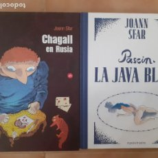 Comics: 2 CÓMICS JOANN SFAR - CHAGALL EN RUSIA - LA JAVA BLEUE - COMO NUEVOS. Lote 215277877