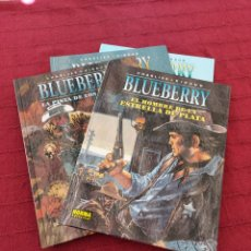 Cómics: BLUEBERRY, EL JINETE PERDIDO ,LA PISTA DE LOS NAVAJOS, AGUILA SOLITARIA, EL HOMBRE DE LA ESTRELLA D. Lote 216817180