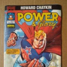 Cómics: LOTE POWER & GLORY, DE HOWARD CHAYKIN. NÚMEROS 1-2-3 (DE 4). BRAVURA / NORMA EDITORIAL, 1994.. Lote 106708623