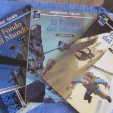 Cómics: CORBEYRAN - FALQUE. EL FONDO DEL MUNDO. 1,2 Y 3. COLECCION PANDORA Nº 66,71,78. NORMA EDITORIAL.. Lote 217614513