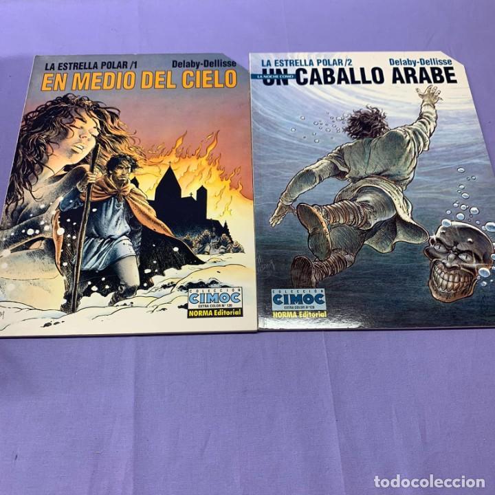 LA ESTRELLA POLAR (1)(2). EN MEDIO DEL CIELO -- UN CABALLO ARABE --DELABY-DELLISE. NORMA (Tebeos y Comics - Norma - Cimoc)