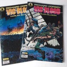 Cómics: VIC & BLOOD - 2 NÚMEROS COMPLETA - RICHARD CORBEN / HARLAN ELLISON. Lote 218492927