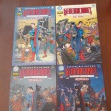 Cómics: SUPERMAN BATMAN GENERACIONES. 4 TOMOS. COMPLETA. Lote 218885982