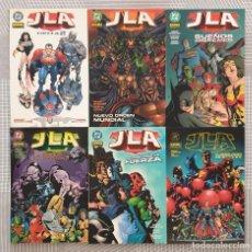Cómics: JLA DE GRANT MORRISON. LOTE DE 6 TOMOS. 1ª EDICIÓN. NORMA EDITORIAL 2002. Lote 97194695