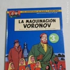 Comics : LAS AVENTURAS DE BLAKE Y MORTIMER LA MAQUINACION VORONOV ESTADO DE KIOSKO MAS ARTICULOS. Lote 219368206