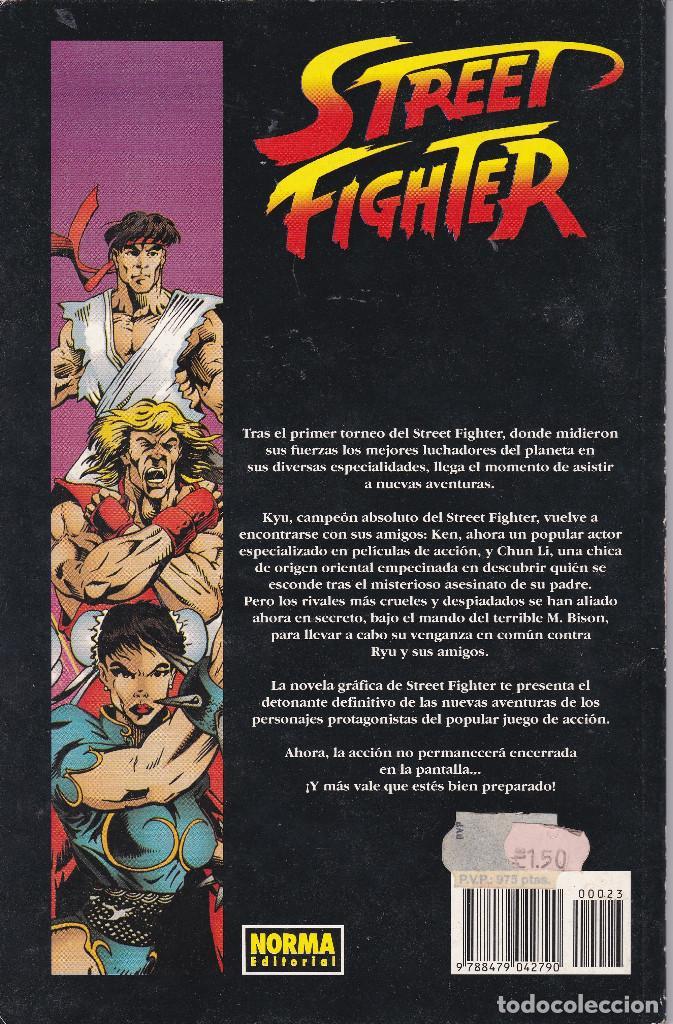 Cómics: STREET FIGHTER LA NOVELA GRAFICA BASADO EN EL VIDEOJUEGO DE LUCHA Nº 23 EDITADO POR NORMA 1995 - Foto 2 - 219469418