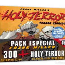 Cómics: PACK 300 + HOLY TERROR DE FRANK MILLER - NORMA / TAPA DURA. Lote 220547818