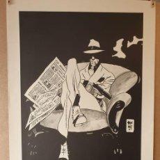 Cómics: BERNET - NORMA EDITORIAL - TORPEDO - DÉCADA DE 1990 - CARTEL GIGANTE ORIGINAL ANTIGUO. Lote 221154332