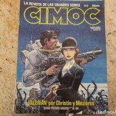 Cómics: CIMOC Nº 37 CIENCIA FICCION Y AVENTURAS NORMA COMICS VALERIAN. Lote 221380110