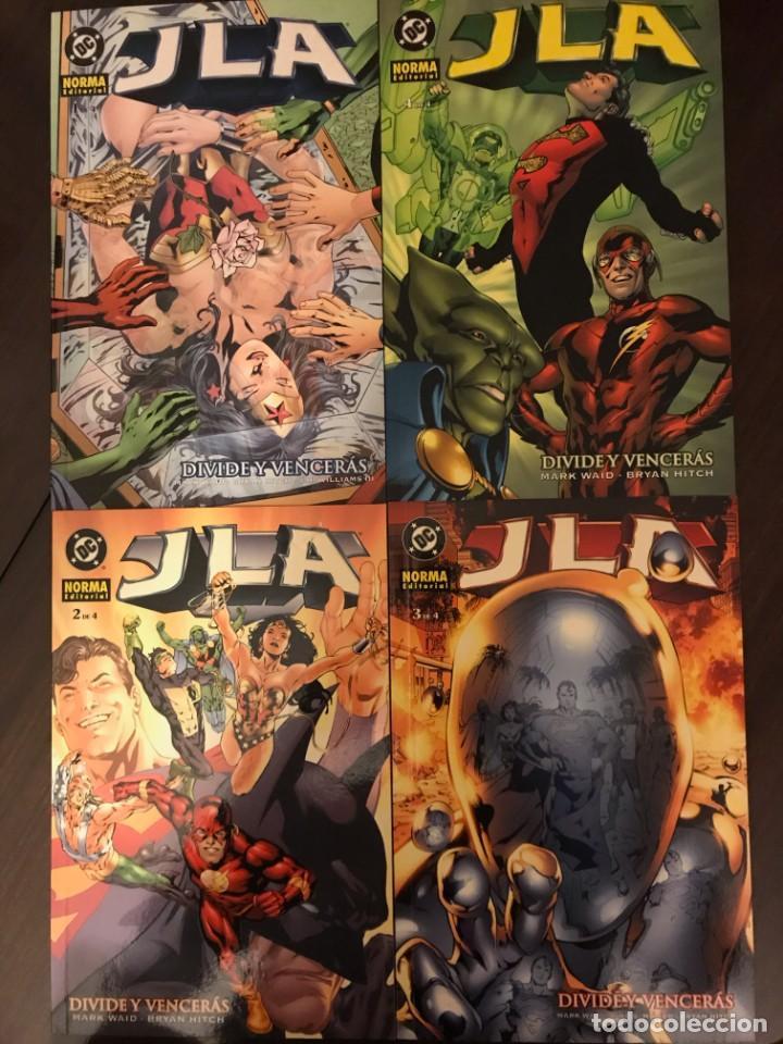 JLA DIVIDE Y VENCERÁS COMPLETA 1 2 3 4 NORMA DC COMICS (Tebeos y Comics - Norma - Comic USA)