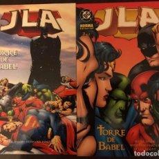 Cómics: JLA TORRE DE BABEL COMPLETA 1 2 NORMA DC COMICS. Lote 222655533