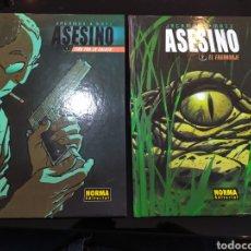 Cómics: ASESINO 1: TIRO POR LA CULATA; 2: EL ENGRANAJE. JACAMON & MATZ. Lote 222777301