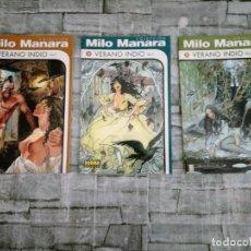 Cómics: VERANO INDIO . MILO MANARA VOL 1-2-3-.. NORMA COMPLETO. Lote 223941161