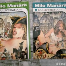 Cómics: GULLIVERIANA MILO MANARA, 2 COMICS NORMA, 2000 COMPLETO. Lote 223942217