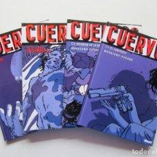 Cómics: CUERVOS - 4 TOMOS COMPLETA - MARAZANO Y DURAND - GLENAT - TAPA DURA - MUY BUENO. Lote 223975525