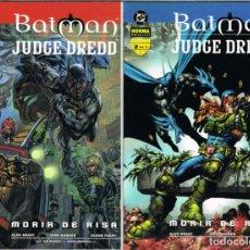 Cómics: BATMAN Y JUDGE DREDD MORIR DE RISA COMPLETA 2 TOMOS POR ALAN GRANT, JOHN WARNER Y GLENN FABRY. Lote 223996741