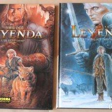 Fumetti: LEYENDA 1 EL NIÑO LOBO 2 BOSQUES PROFUNDOS - YVES SWOLFS - NORMA - MUY BUEN ESTADO. Lote 224412000