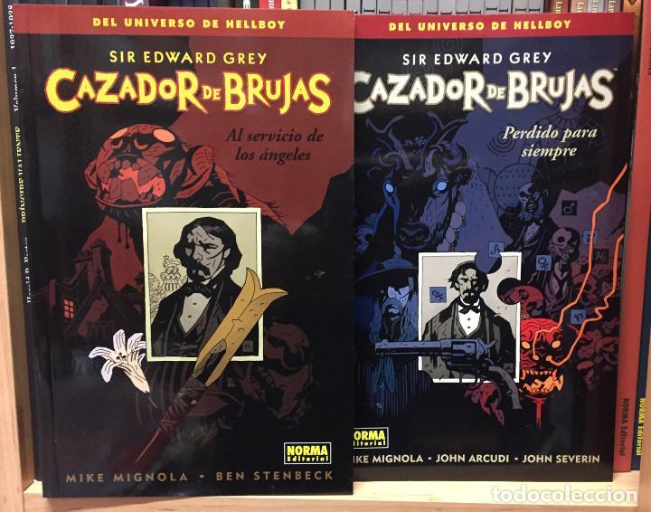 CAZADOR DE BRUJAS 1 Y 2, DE MIKE MIGNOLA, STENBECK, ARCUDI Y JOHN SEVERIN. NORMA EDITORIAL (Tebeos y Comics - Norma - Comic USA)