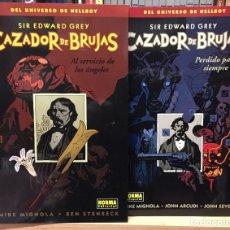 Cómics: CAZADOR DE BRUJAS 1 Y 2, DE MIKE MIGNOLA, STENBECK, ARCUDI Y JOHN SEVERIN. NORMA EDITORIAL. Lote 233162000