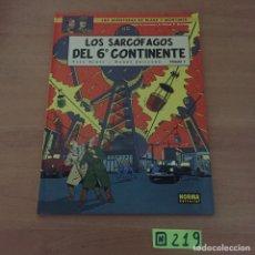 Cómics: BLAKE Y MORTIMER LOS SARCÓFAGOS DEL 6º CONTINENTE. Lote 234137105