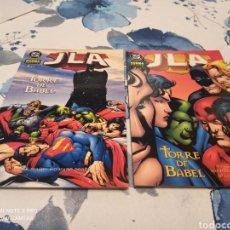 Cómics: JLA TORRE DE BABEL 2 TOMOS NORMA EDITORIAL. Lote 234533850